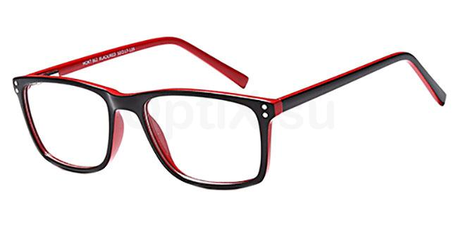 Black/Red MONT862 Glasses, MONTEREY TEENS