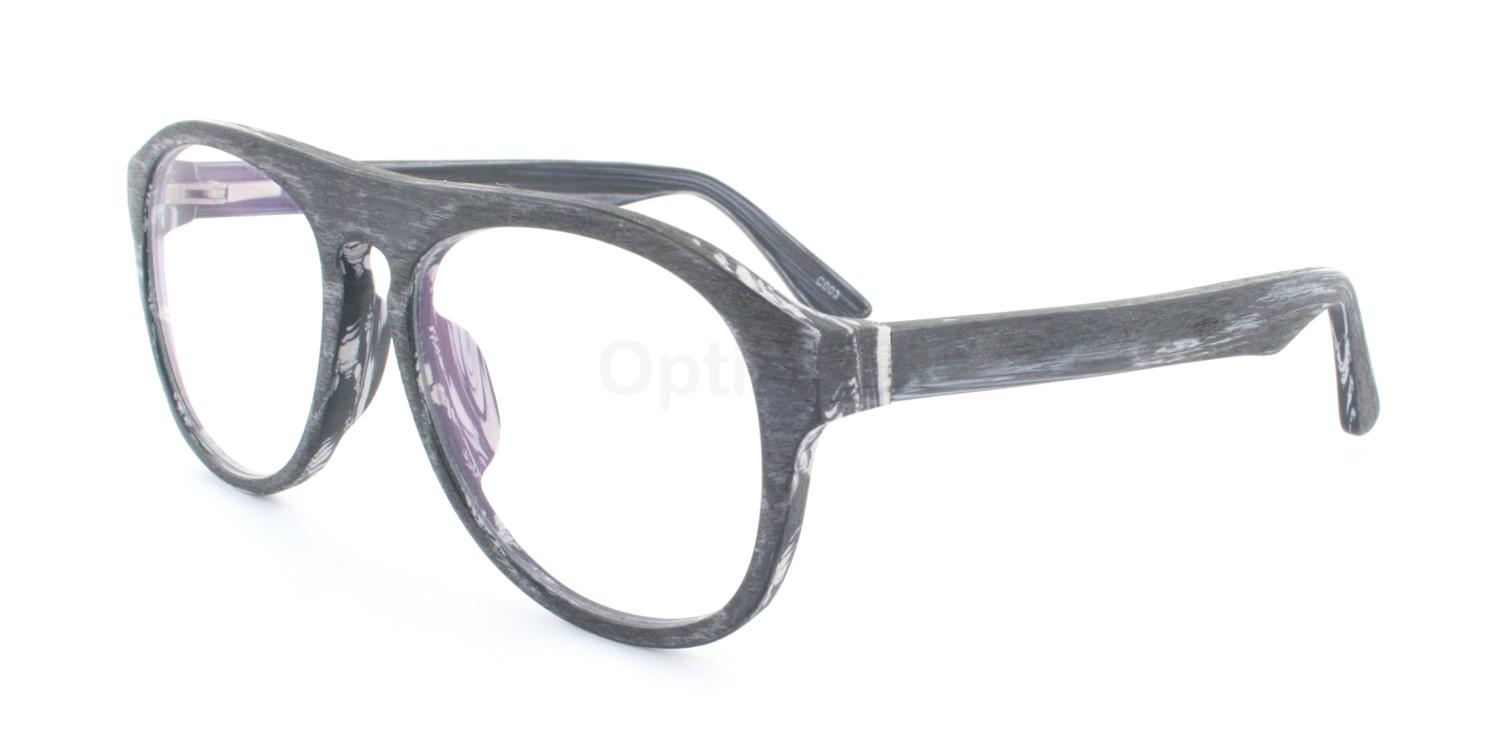 C003 A2101 Wood Effect Glasses, Infinity