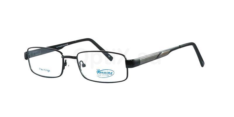Shiny Black BOBBY Glasses, Pennine Originals
