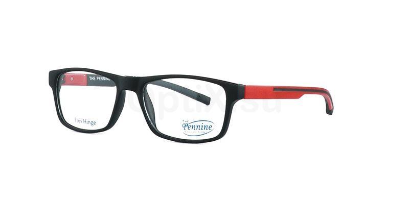 Black/Red MARCO Glasses, Pennine Originals