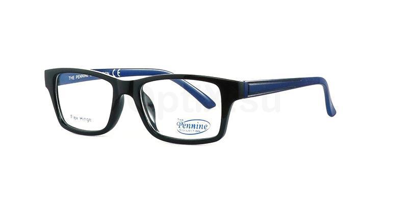 Black/Blue NICO Glasses, Pennine Originals