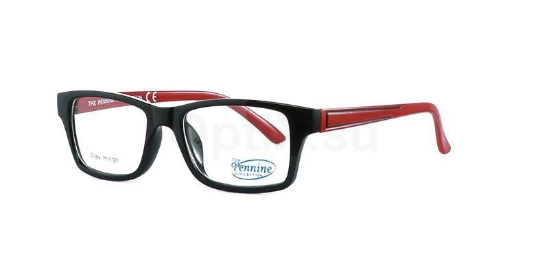Black/Red NICO Glasses, Pennine Originals
