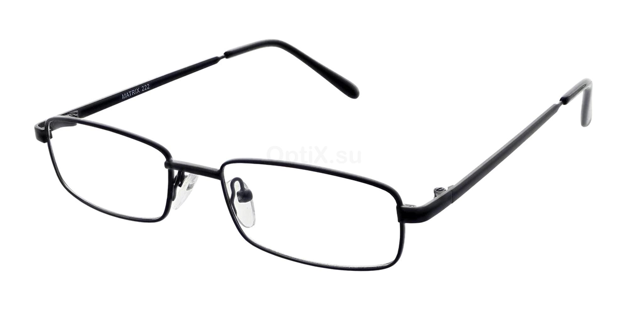 Black 222 Glasses, Matrix