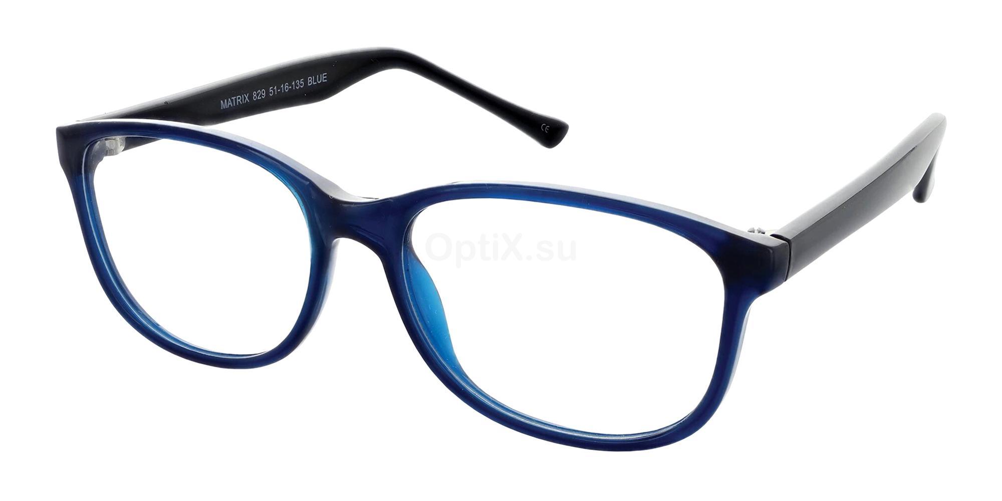 Blue 829 Glasses, Matrix