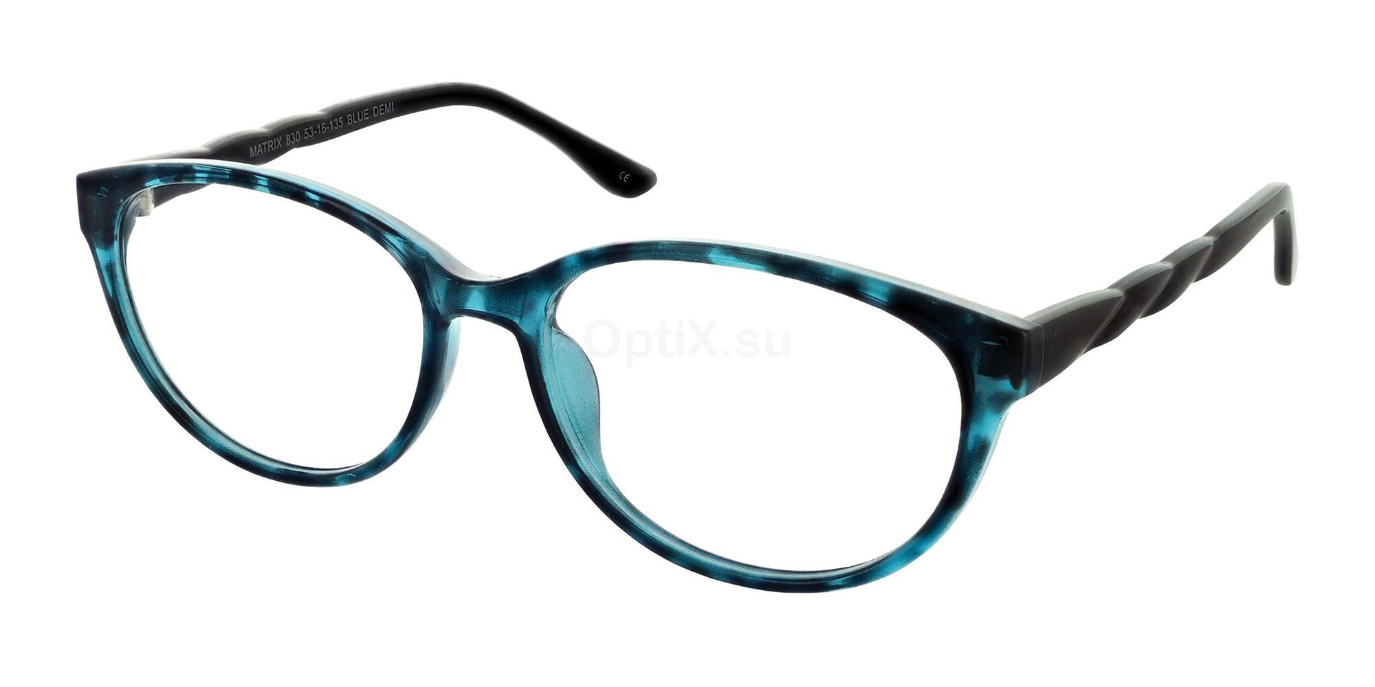 Blue Demi 830 Glasses, Matrix