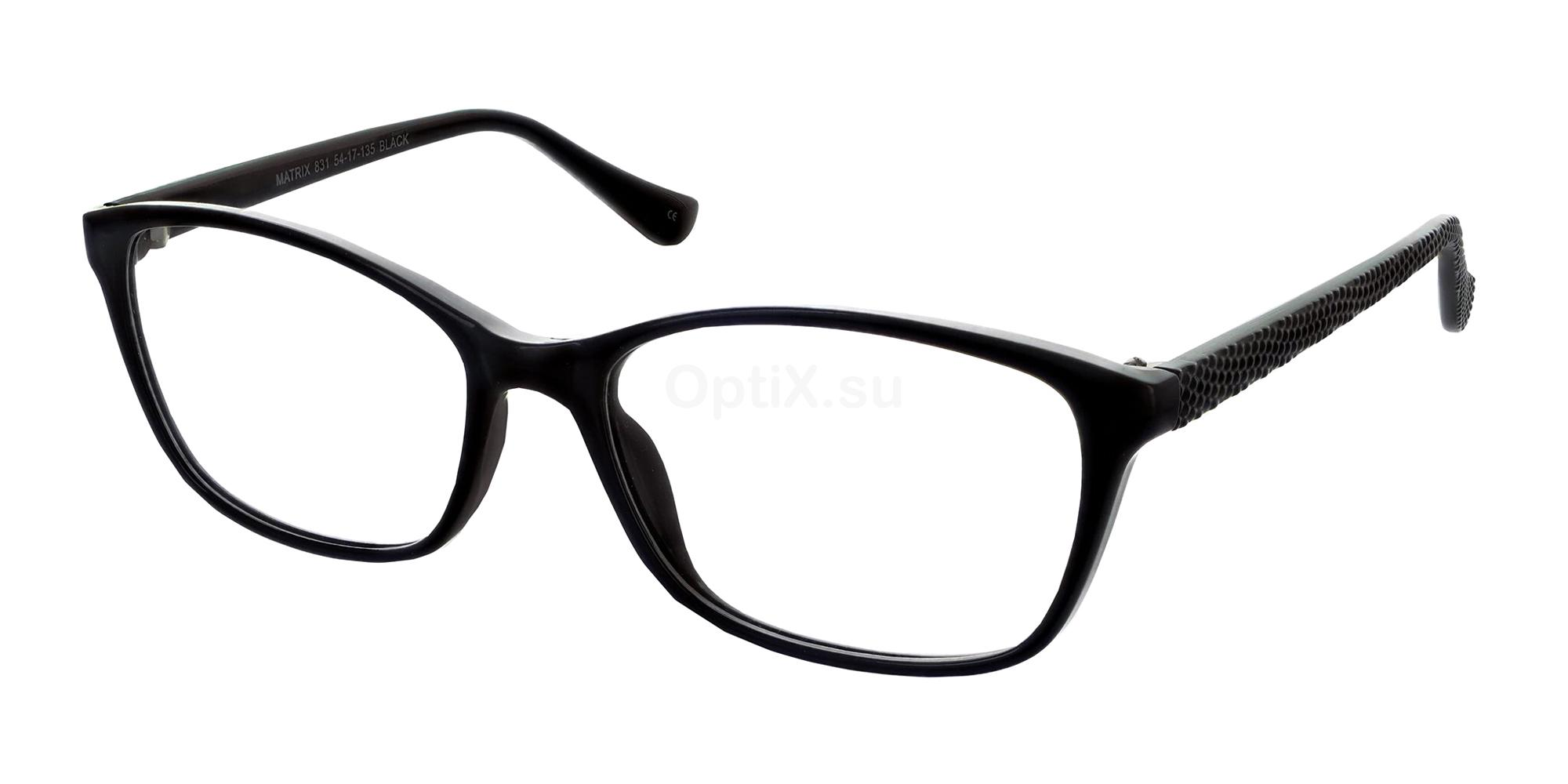Black 831 Glasses, Matrix