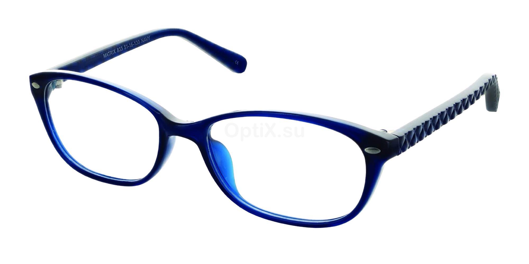 Navy 833 Glasses, Matrix
