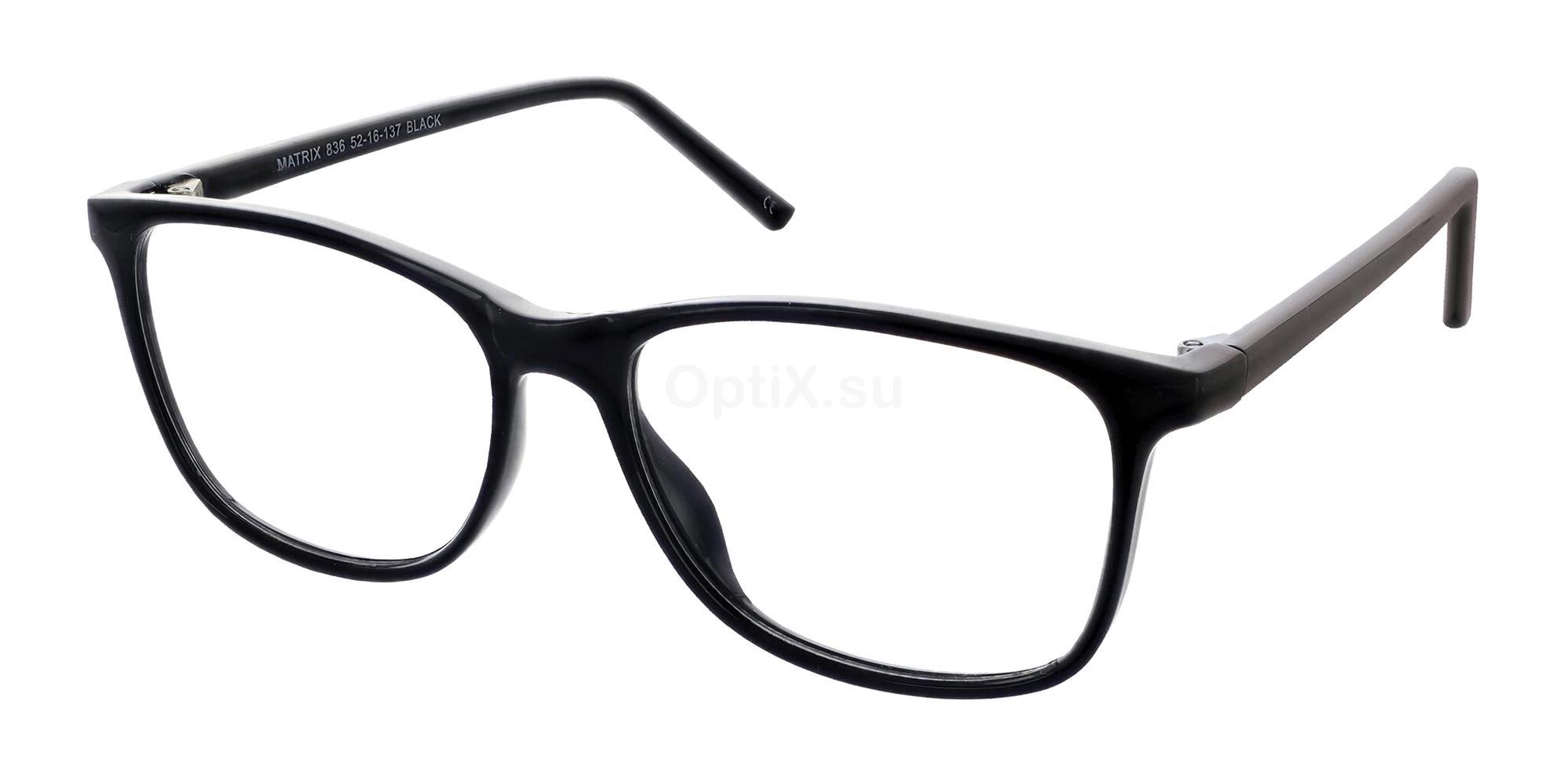 Black 836 Glasses, Matrix