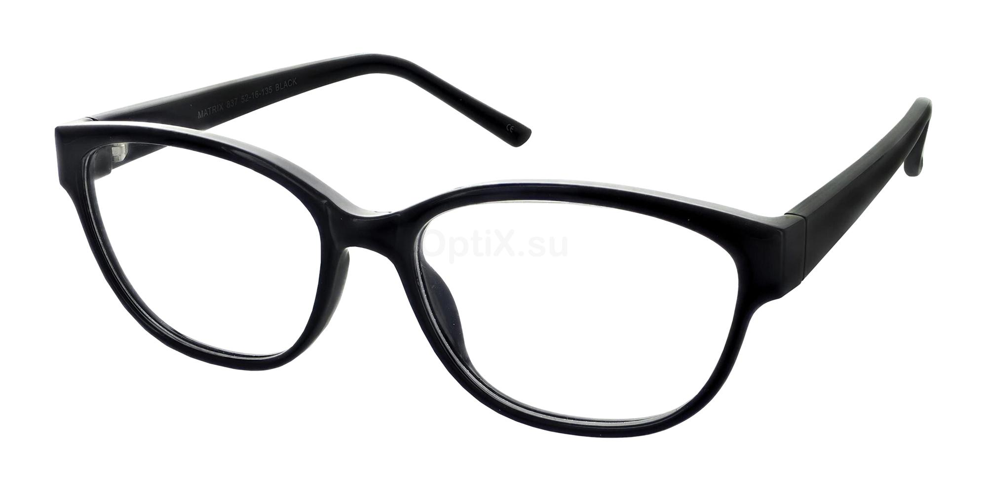 Black 837 Glasses, Matrix