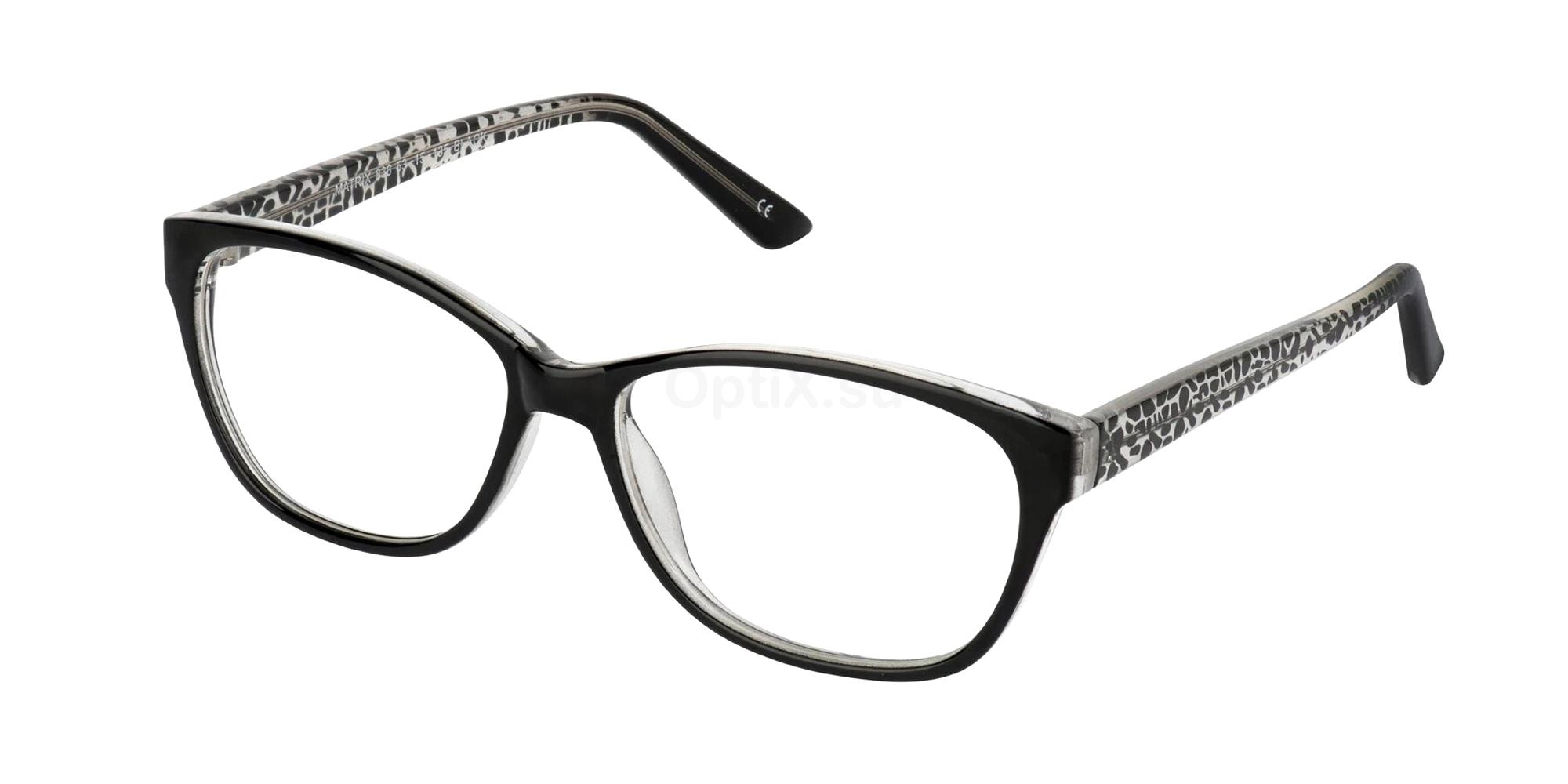 Black 838 Glasses, Matrix