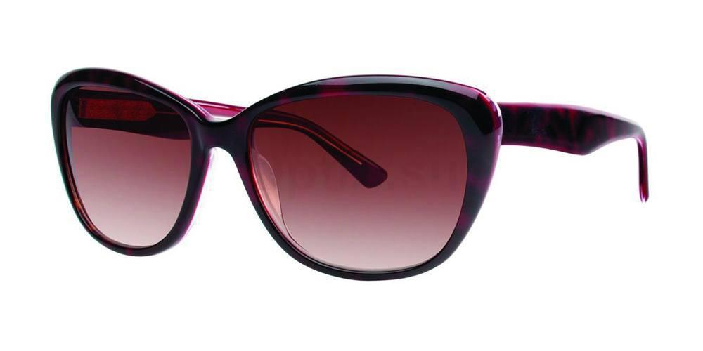 Burgundy Tortoise V400 Sunglasses, Vera Wang
