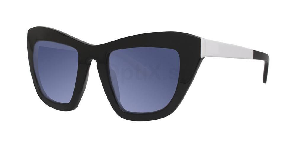 Black V455 Sunglasses, Vera Wang