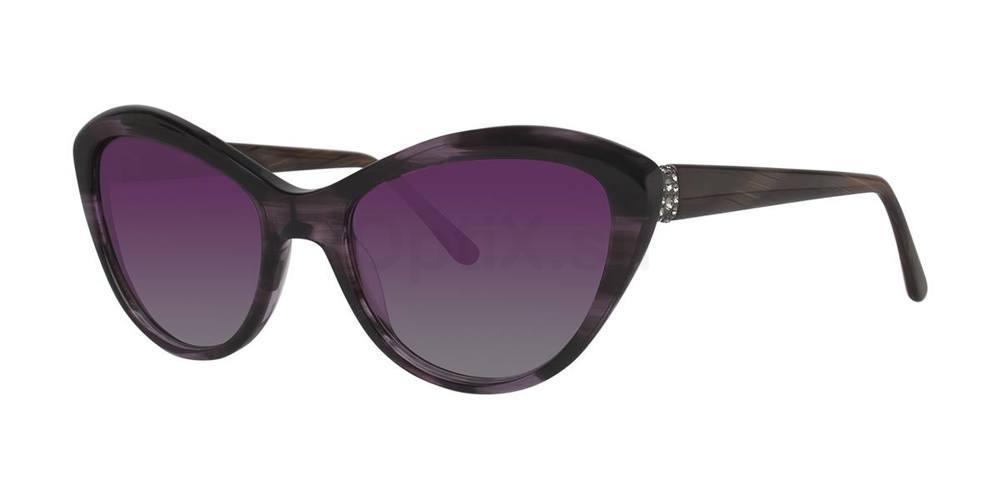 Amethyst Horn V445 Sunglasses, Vera Wang