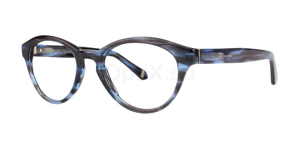 Blue EVELYN Glasses, Zac Posen