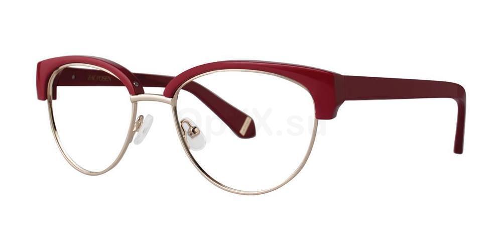 Maroon ETHEL Glasses, Zac Posen