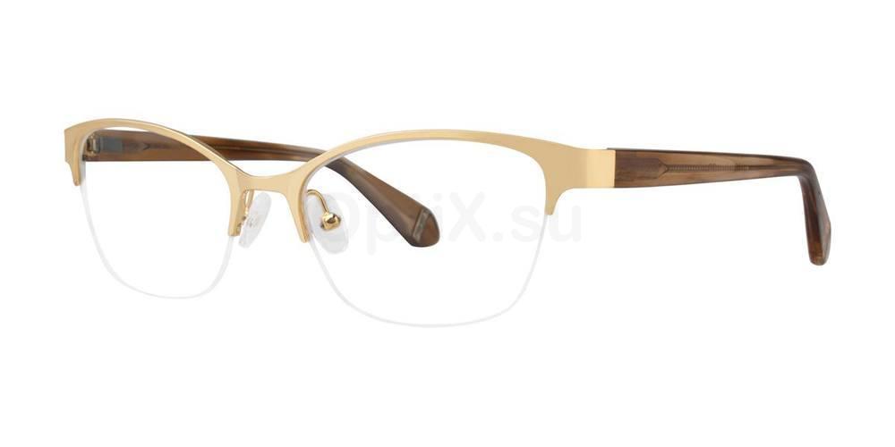Brown MURIEL Glasses, Zac Posen