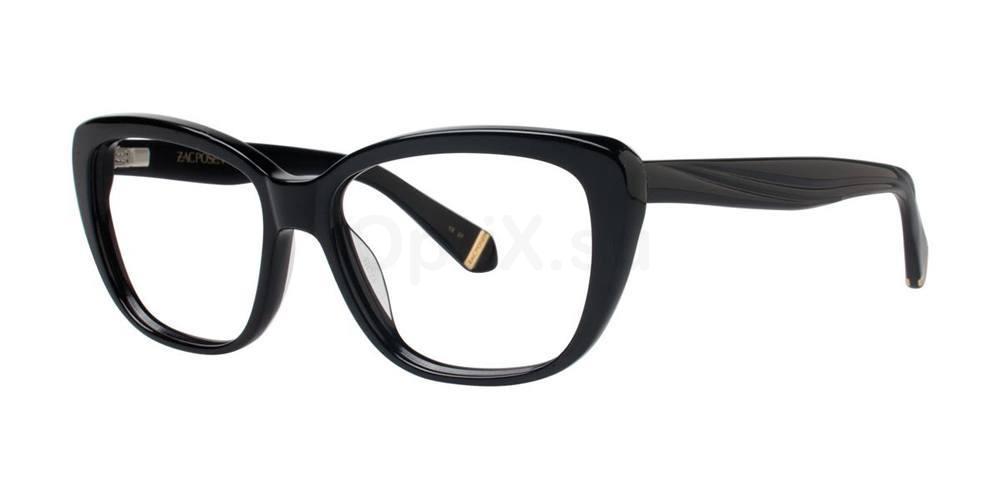 Black LORETTA Glasses, Zac Posen