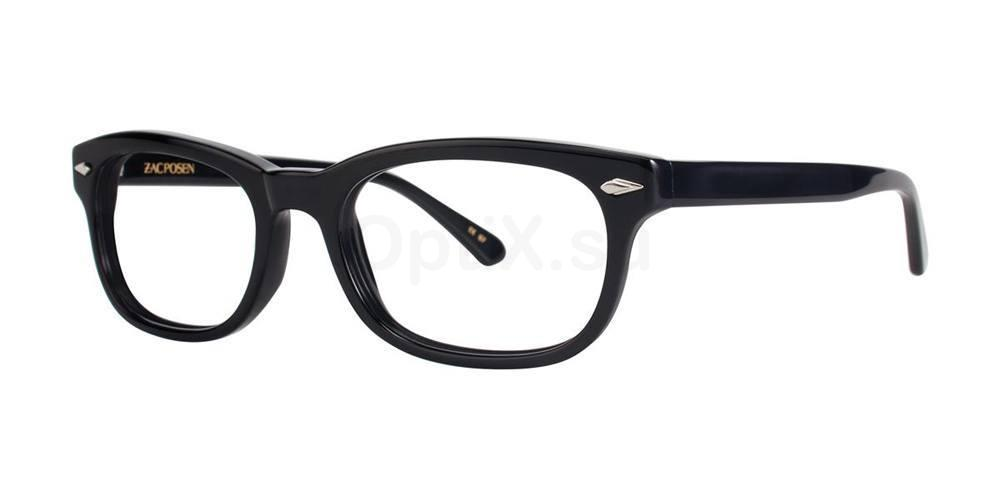 Black OLIVIER Glasses, Zac Posen