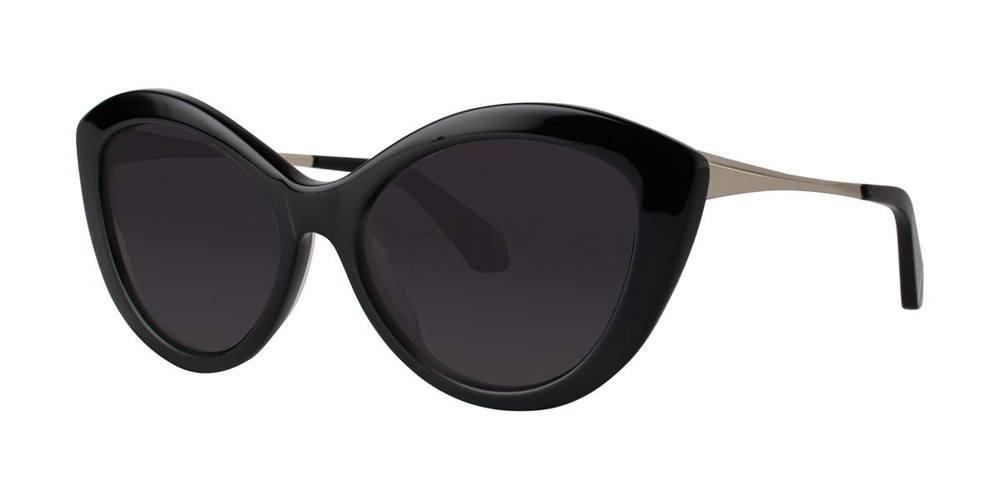 Black SHELLEY Sunglasses, Zac Posen