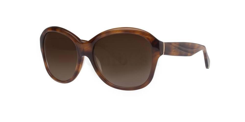 Brown Horn MARLENE Sunglasses, Zac Posen