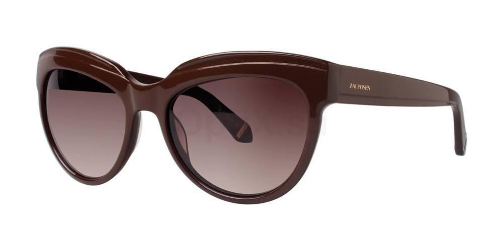 Brown TENNILLE Sunglasses, Zac Posen