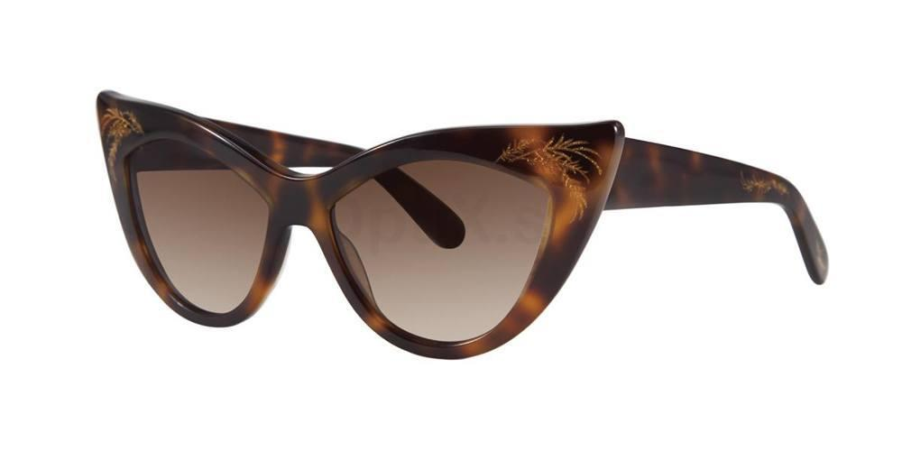 Tortoise FIONA Sunglasses, Zac Posen