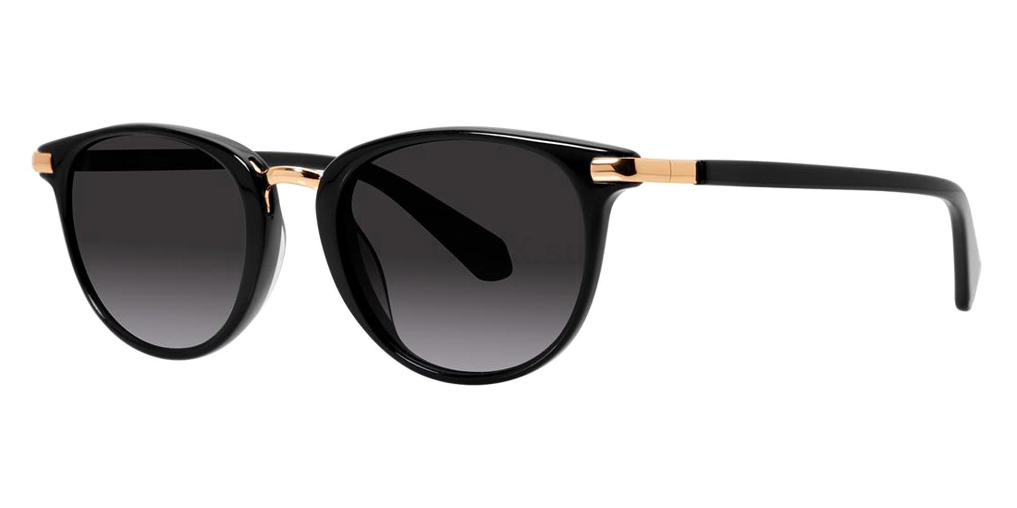 Black DAYLE SUN Sunglasses, Zac Posen