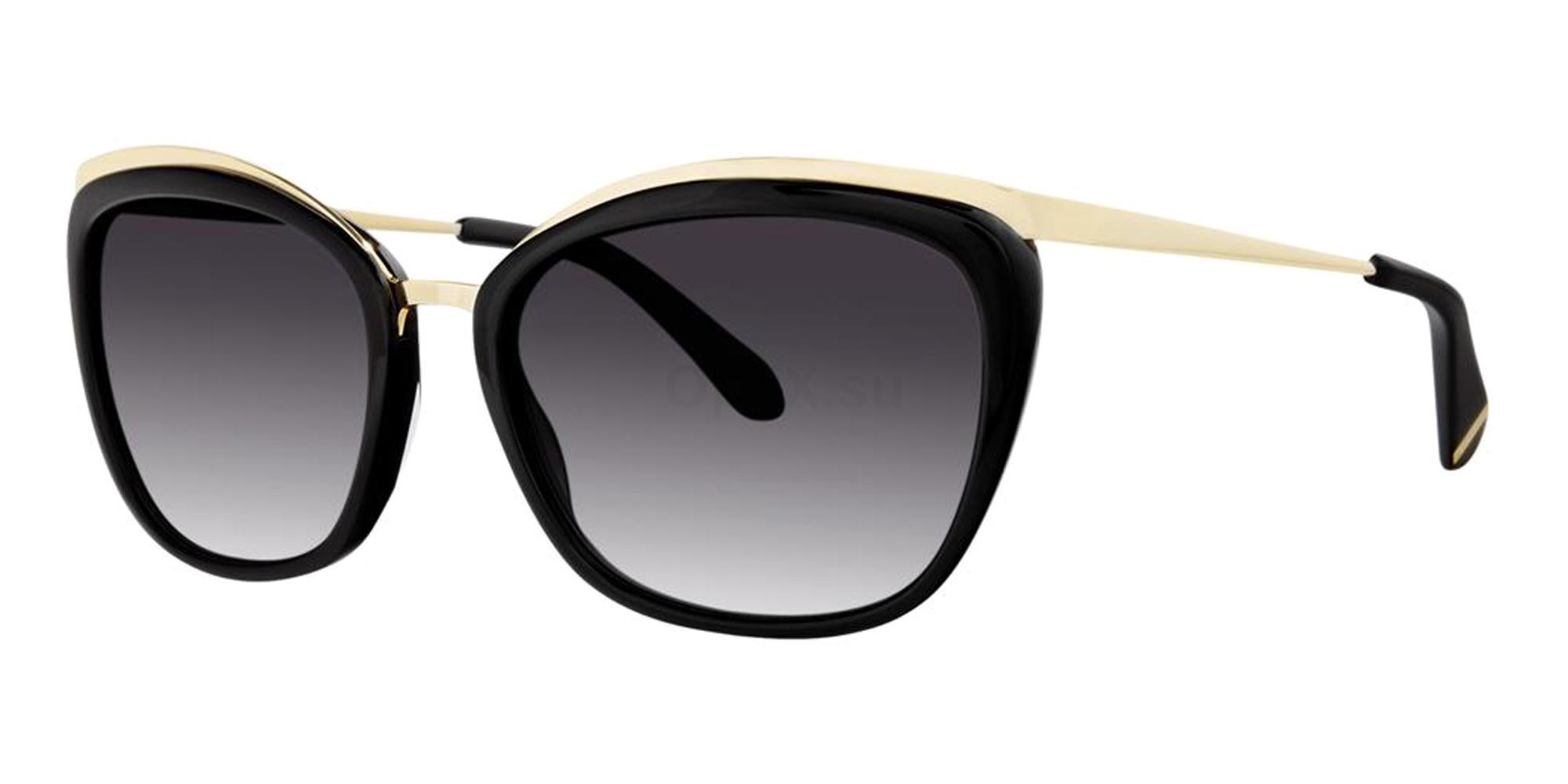 Black JAYNE Sunglasses, Zac Posen