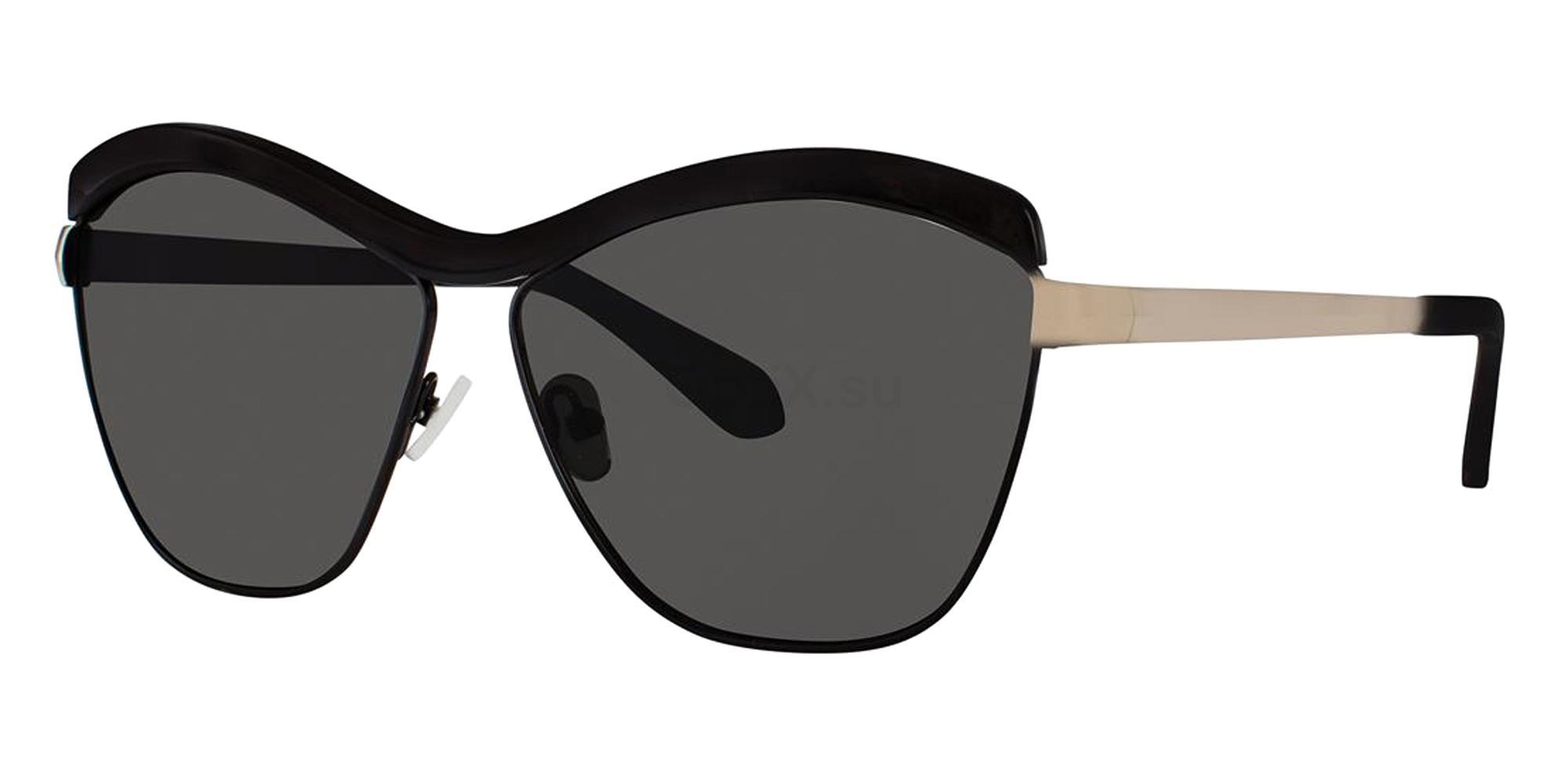 Black LUCIANA Sunglasses, Zac Posen