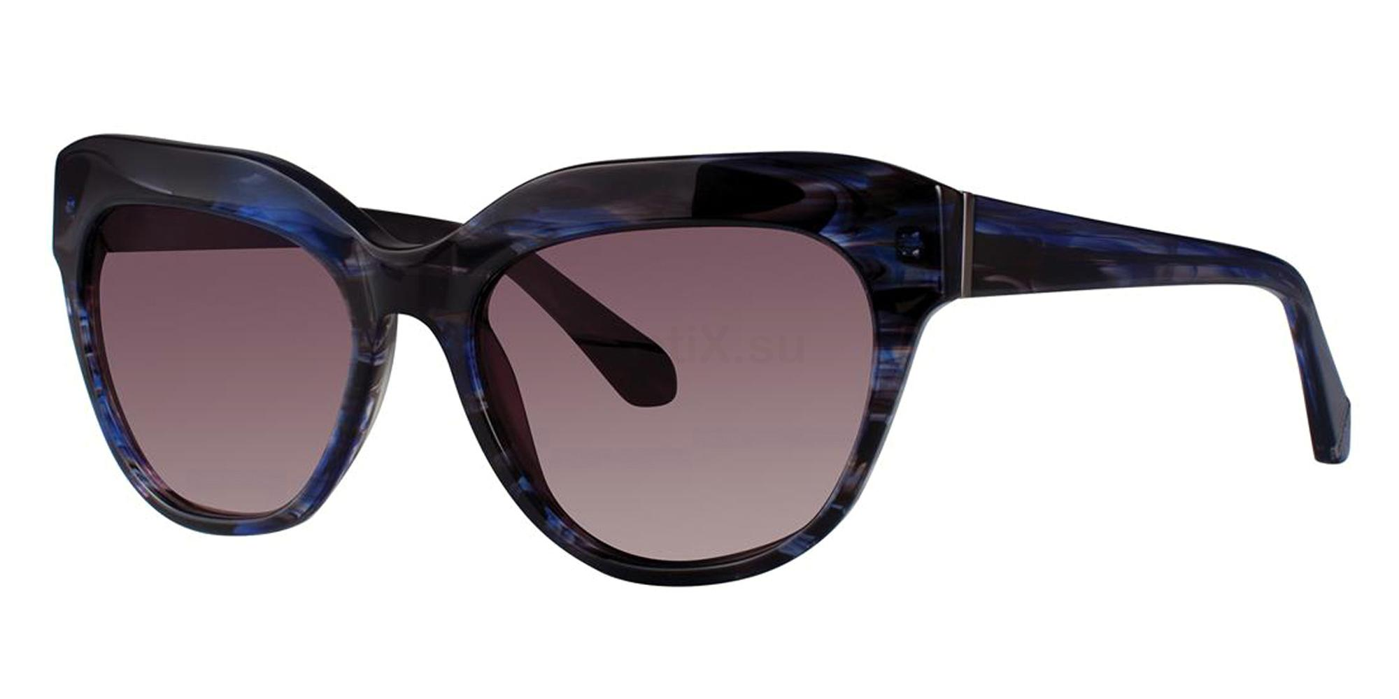 Blue Tortoise NOBLE Sunglasses, Zac Posen
