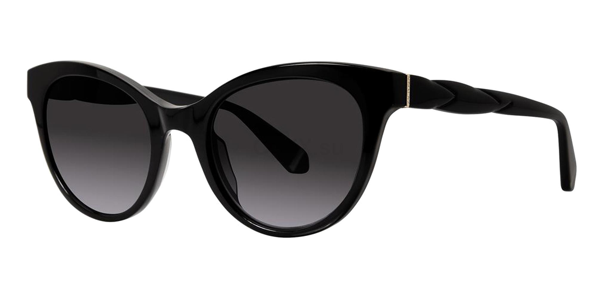 Black ZAIDA SUN Sunglasses, Zac Posen