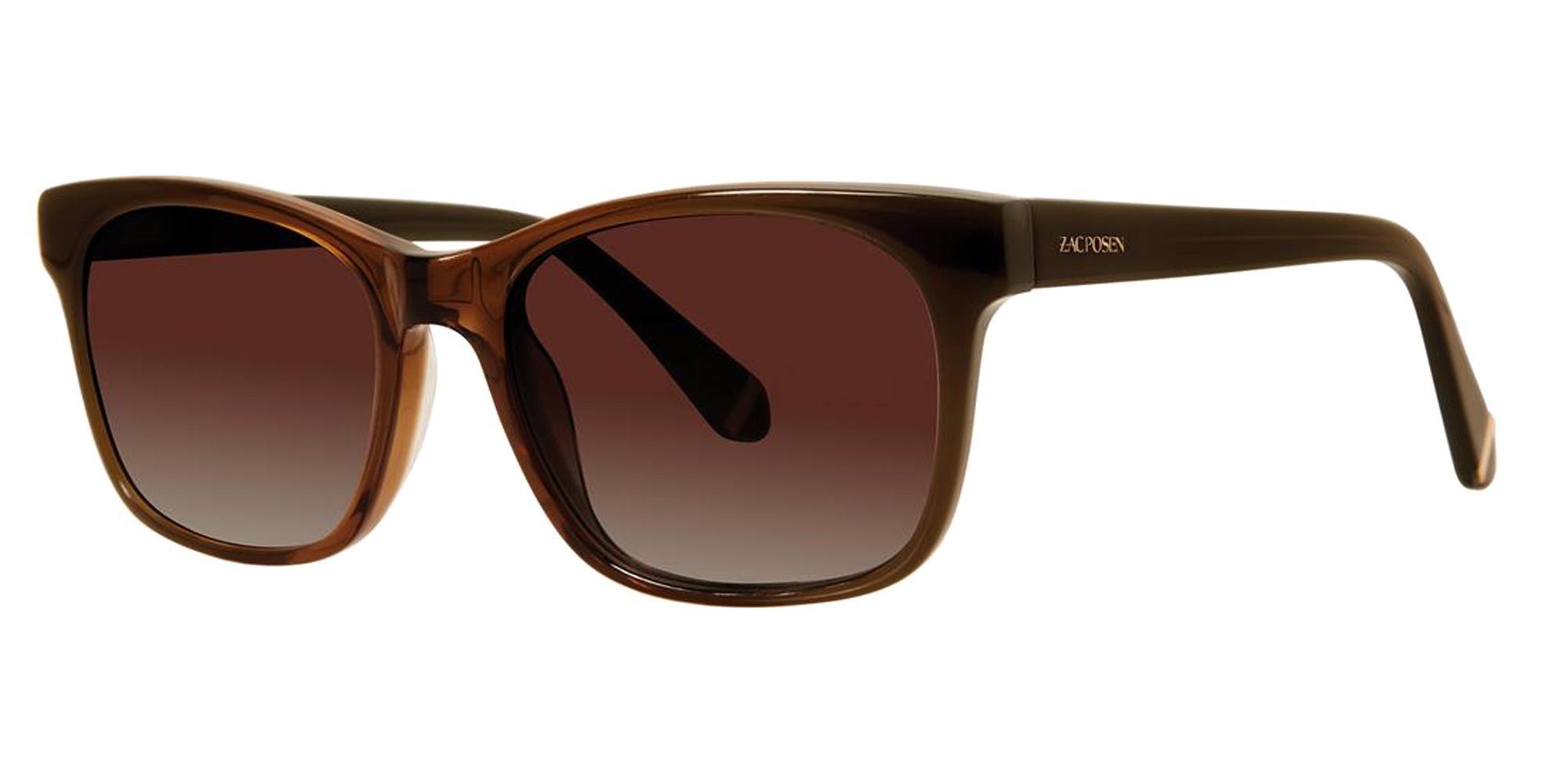 Brown ZORA SUN Sunglasses, Zac Posen