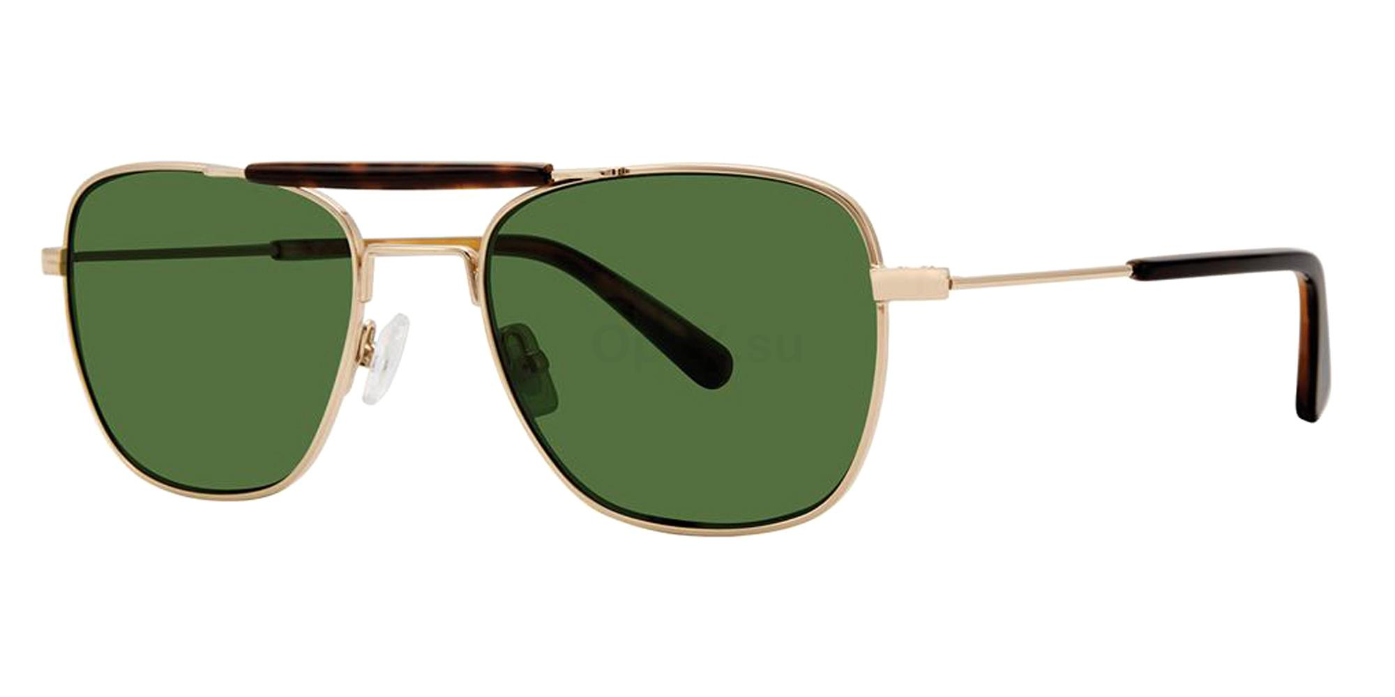 Gold BROCK Sunglasses, Zac Posen