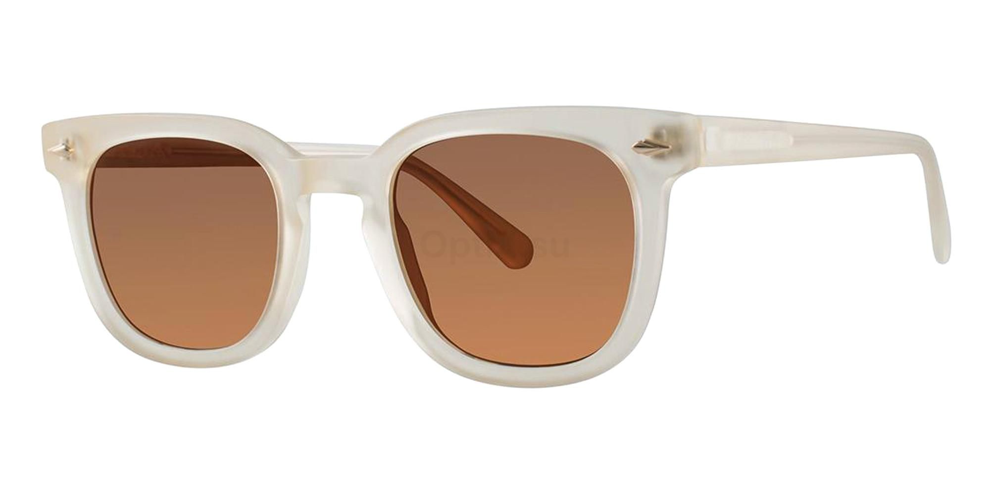 Cream Crystal Matte COOPER Sunglasses, Zac Posen