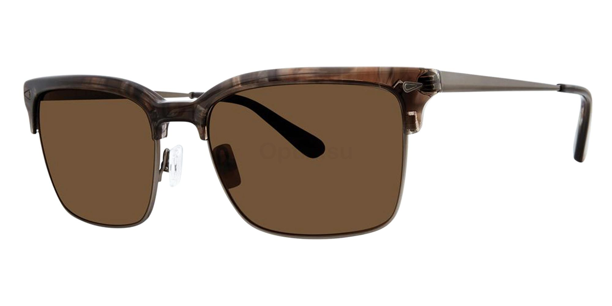 Crystal Walnut DRIGGS Sunglasses, Zac Posen