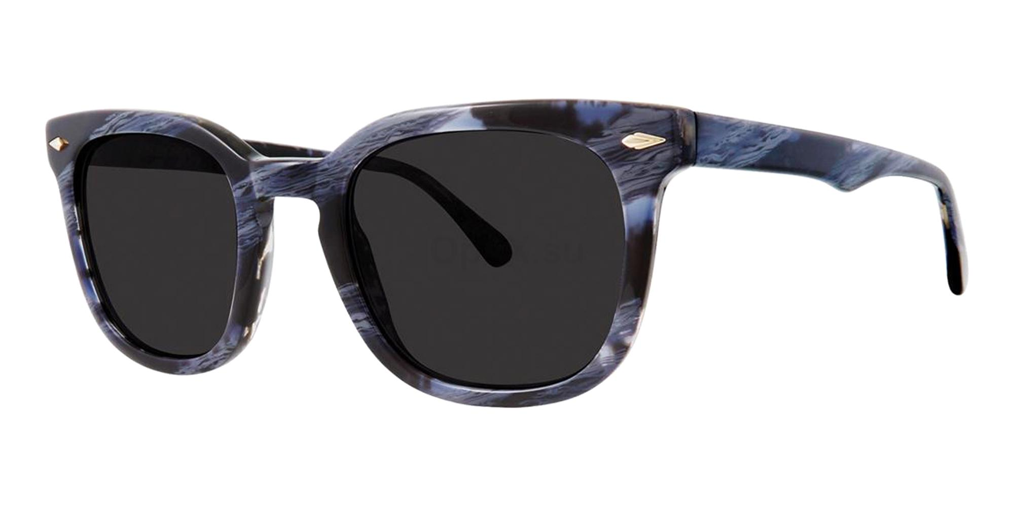 Navy Horn RHETT Sunglasses, Zac Posen