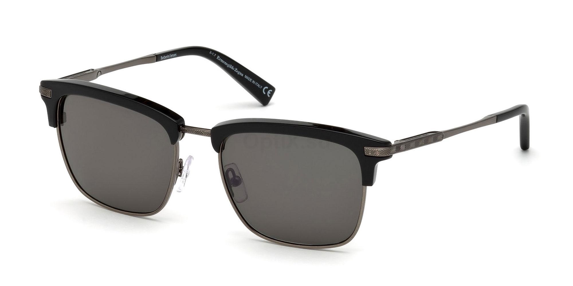 01N EZ0092 Sunglasses, Ermenegildo Zegna