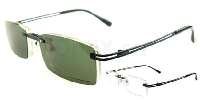 Black S9092 With Magnetic Polarized Sunglasses Clip-on Glasses, Vista