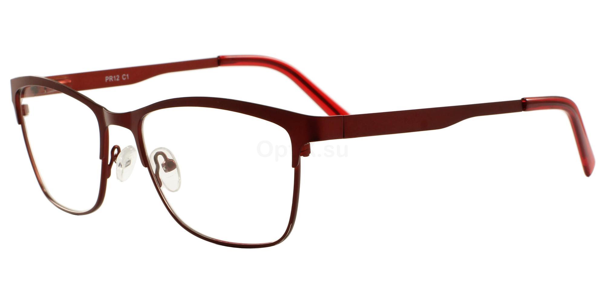 C1 12 Glasses, Pink Ribbon