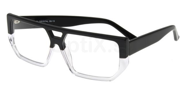 Black and Crystal P048 Glasses, Booth & Bruce Design