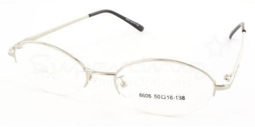 Silver 8606 Glasses, Indium