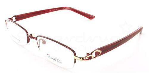 Burgundy F338 Glasses, Krypton