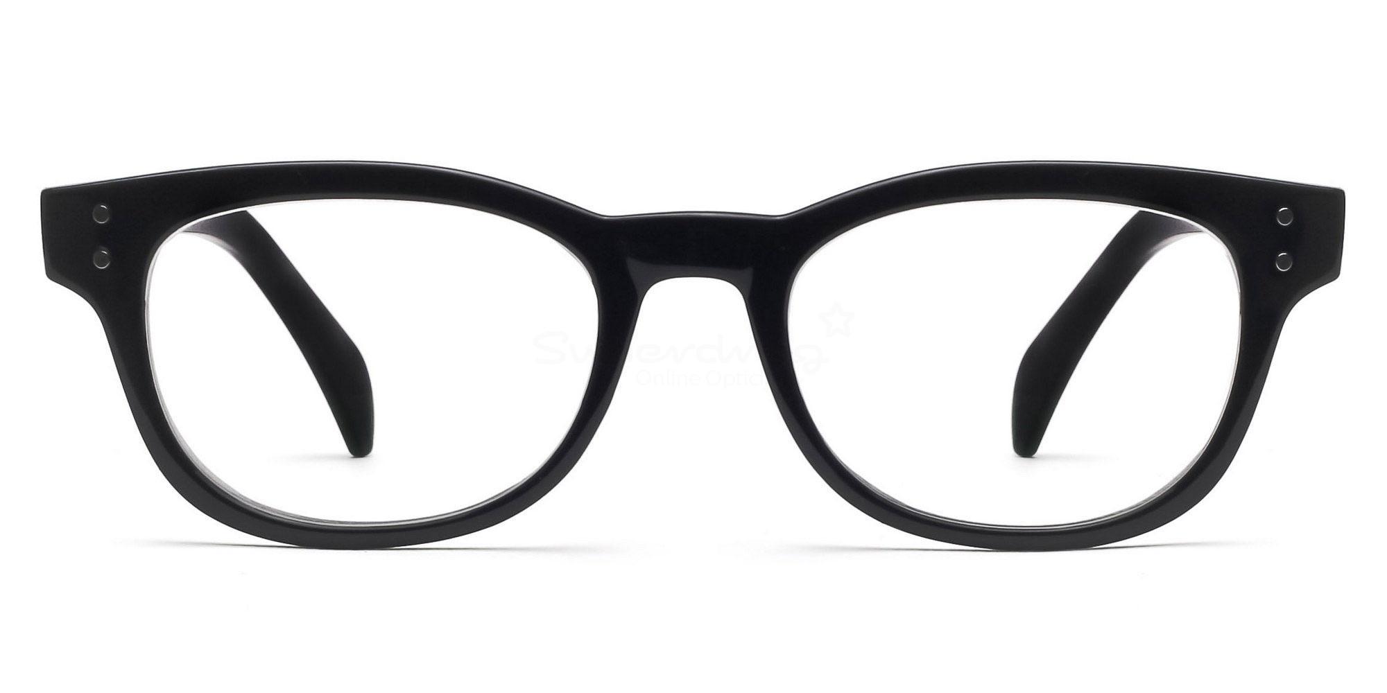 Shiny Black P2249 Shiny Black Glasses, Helium