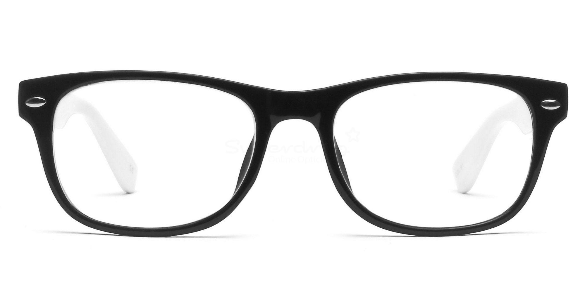 Black and White P2383 - Black and White Glasses, Helium