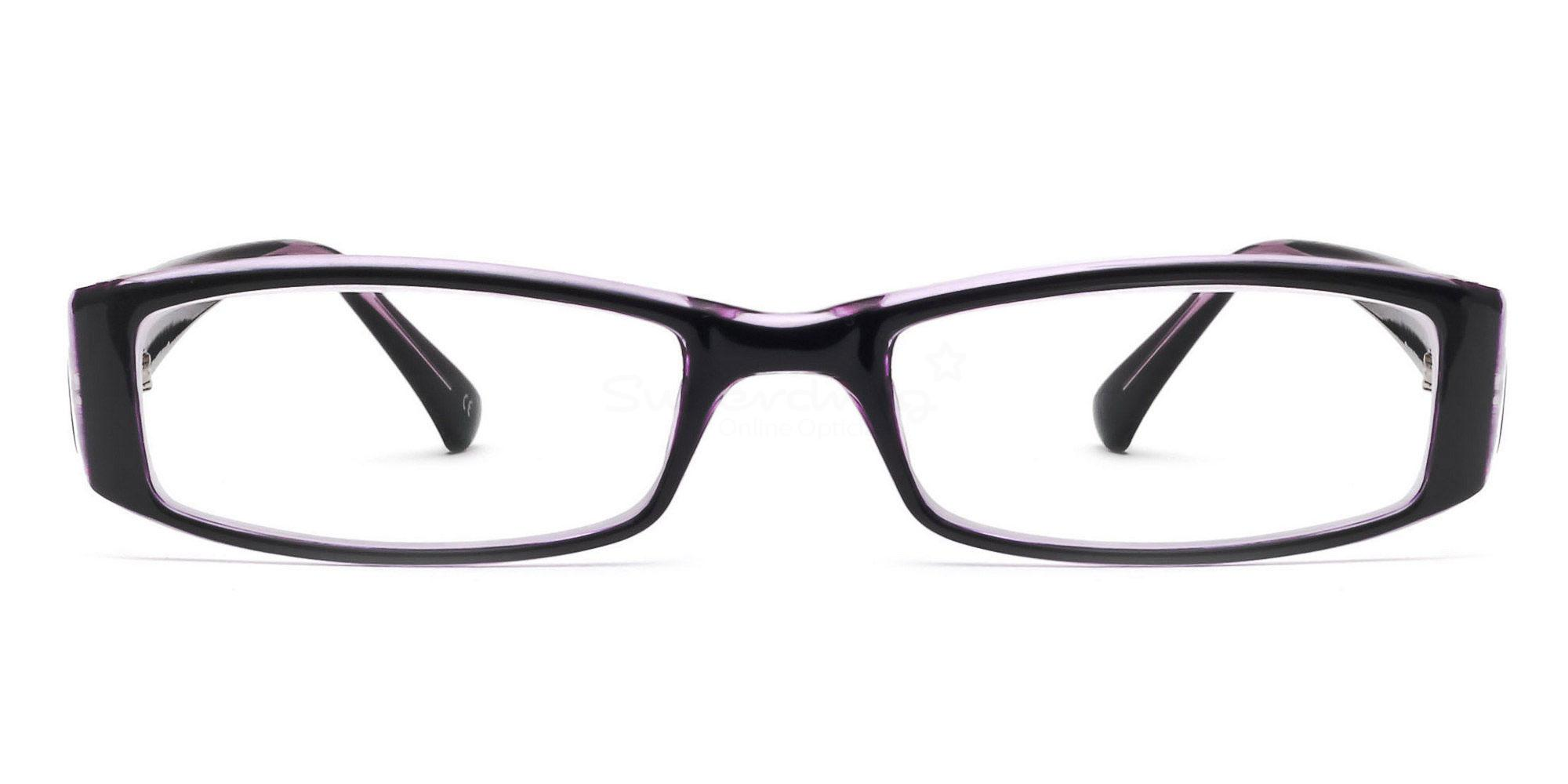 C44 P2251 - Black and Purple Glasses, Helium