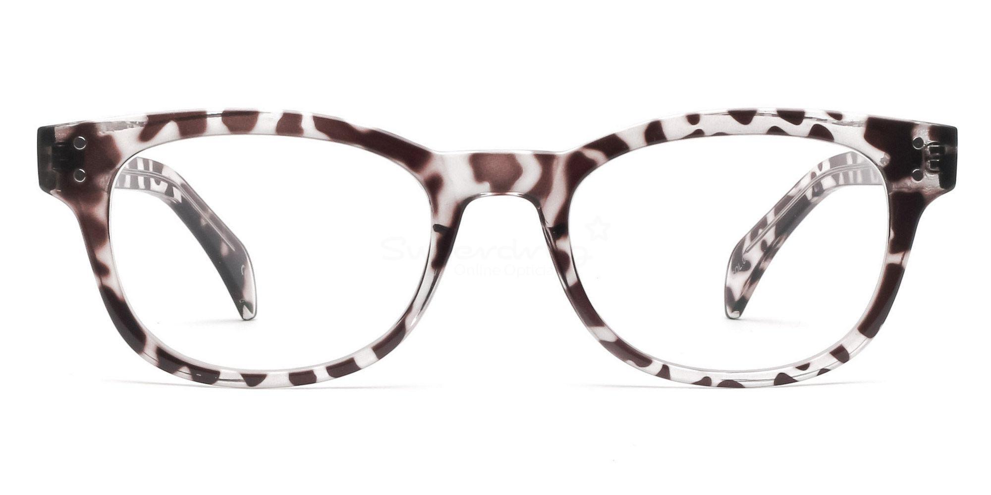 Col.03 2249 Animal Print Glasses, Helium