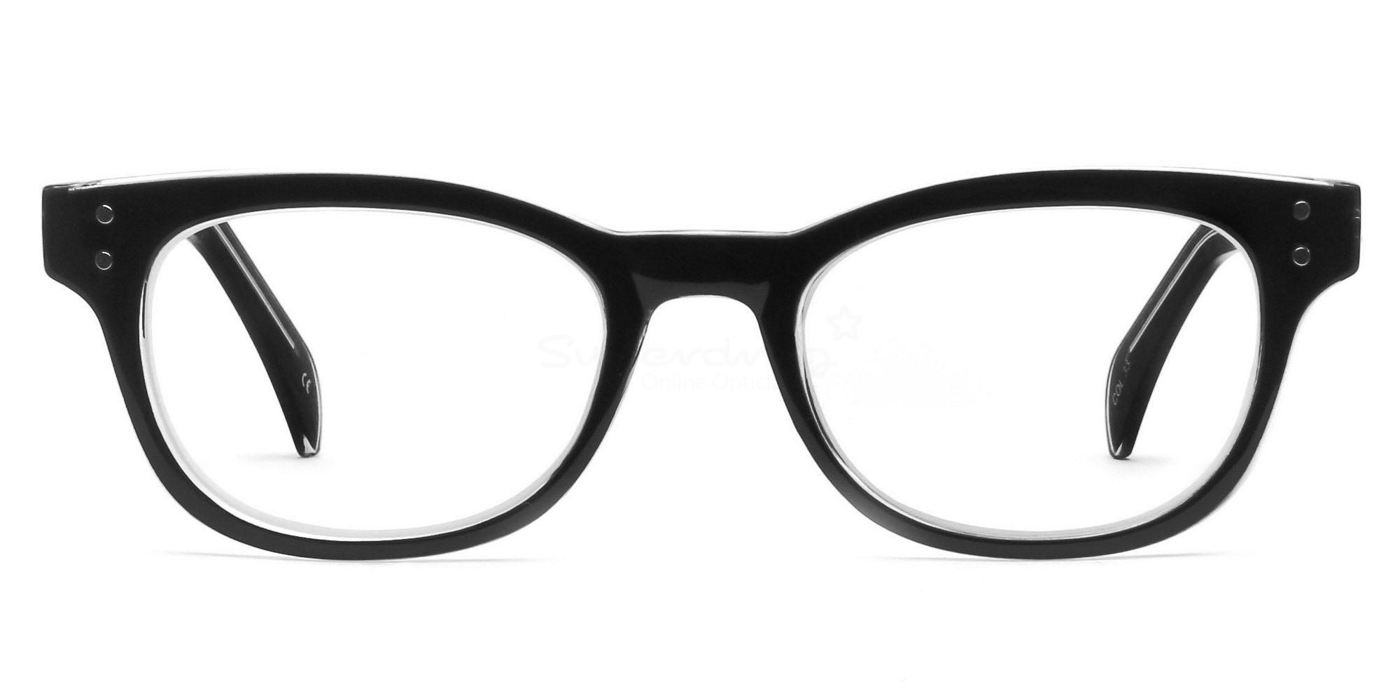Col.33 P2249 Black/Clear Glasses, Helium