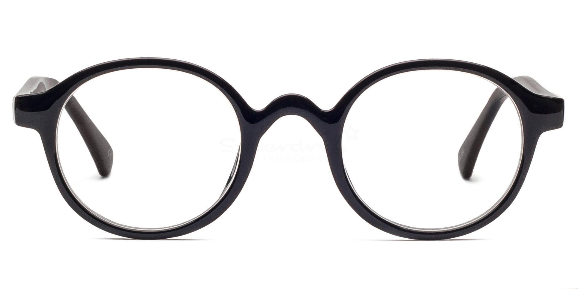 Black P2375 - Black Glasses, Helium