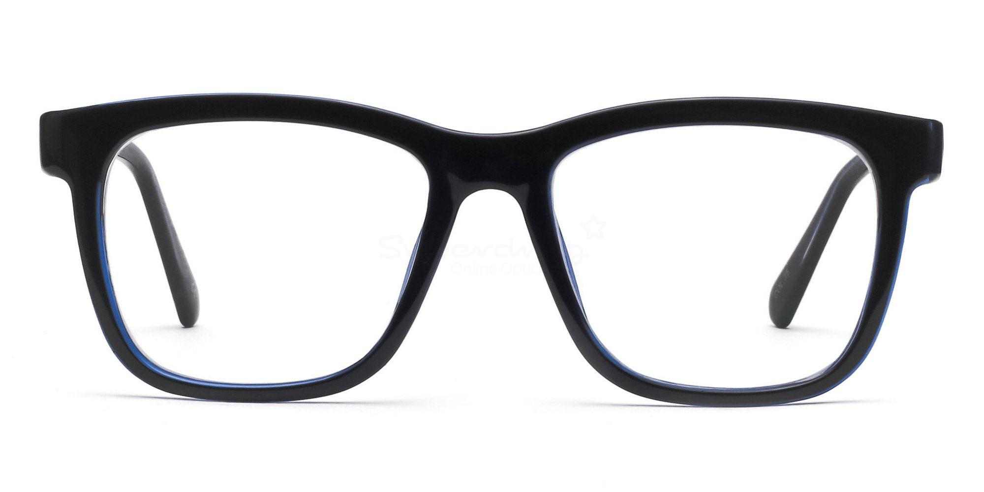 COL.35 2444 - Black and Blue Glasses, Helium