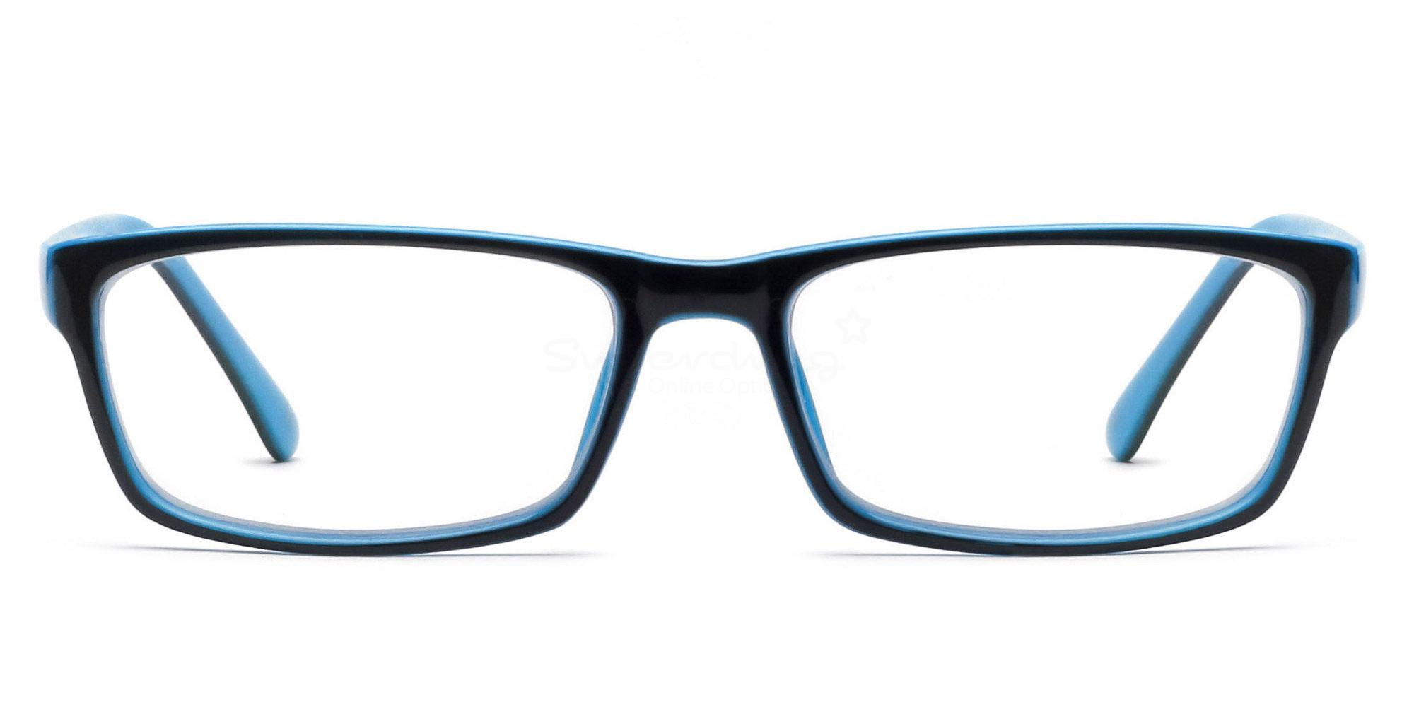 COL.25 2426 - Black and Blue Glasses, Helium